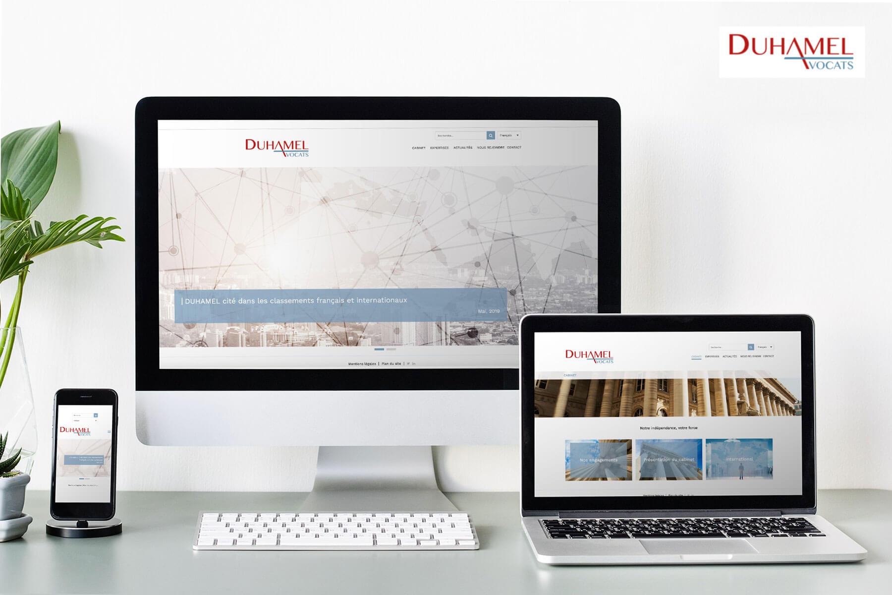Realisation du site internet de Duhamel Avocats