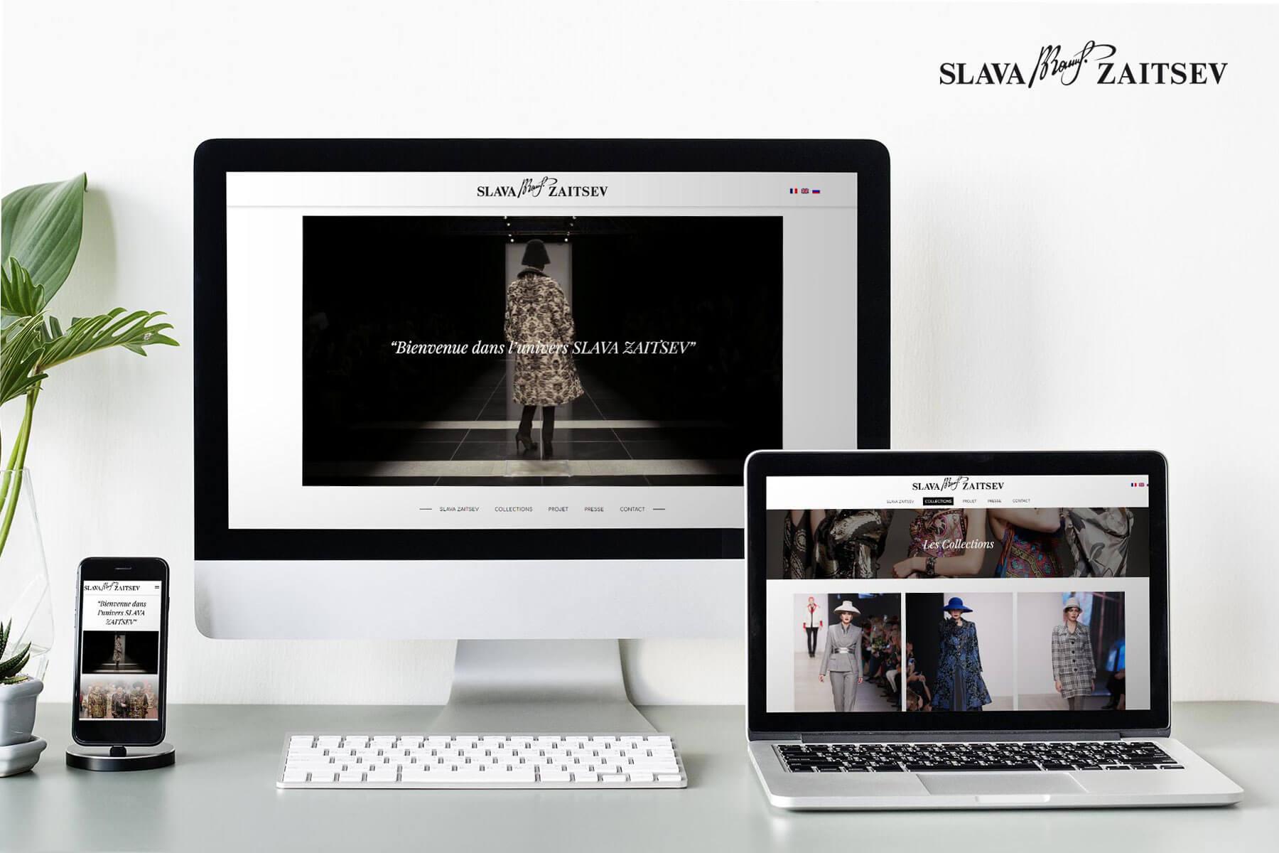 réalisation du site web de slava zaitseiv