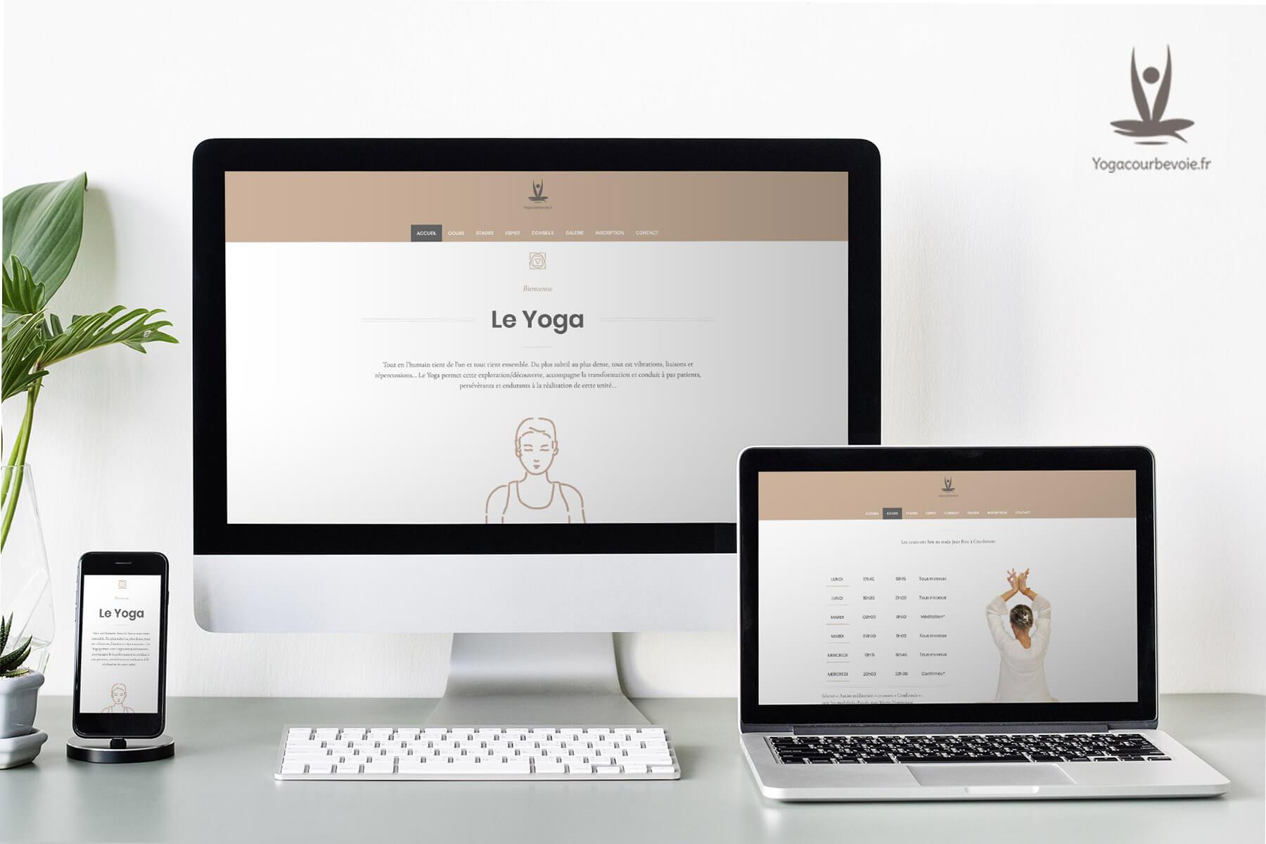 Realisation du site wib de yoga courbevoie
