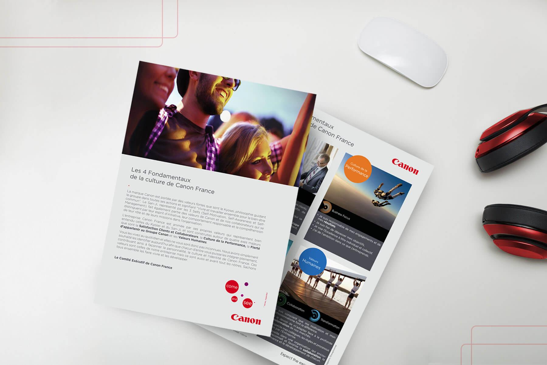 creation de fiches produits pour Canon France