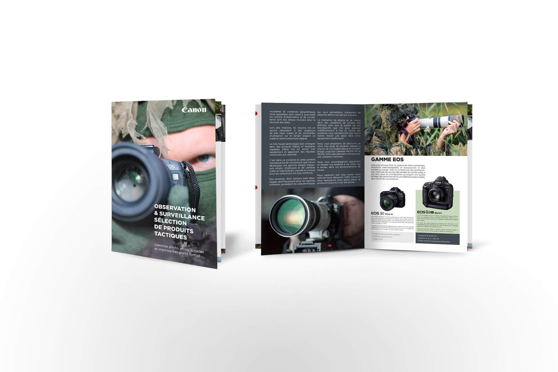 creation de plaquettes pour Canon France Pro